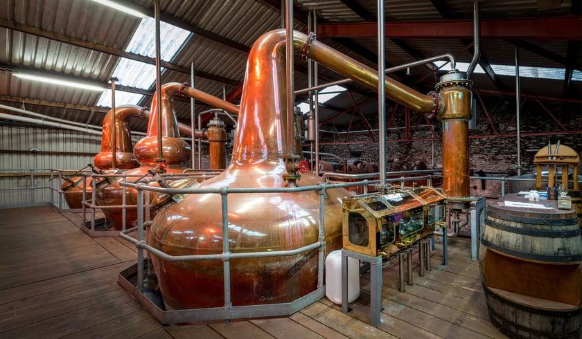 a still in a distillery