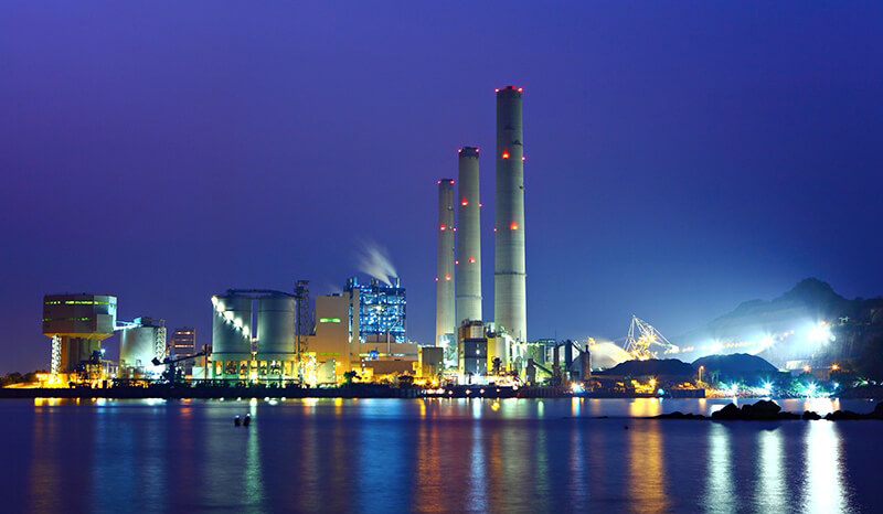 photo of ATEX area at night